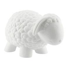 Light-Glow Sheep Design Porcelain Table Lamp