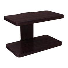 Stony-Edge Wood Wall Mount Shelf for TV, Espresso