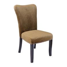 Aalten Velvet Dining Chairs Set Of 2 Brown Sugar