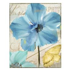 """Blue Mountain Poppy"" by Color Bakery Aluminum Wall Art, 16x20x0.8"