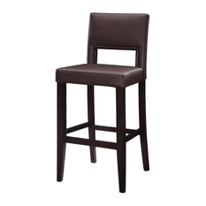 Hawthorne Collection 30-inch Faux Leather Bar Stool In Dark Espresso