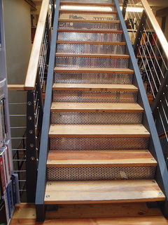 What Company Fabricated The Perforated Metal Stairs