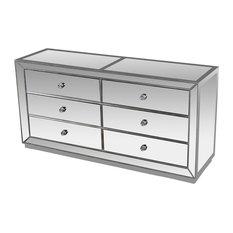 Jameson Silver Mirrored Bedroom Dresser
