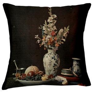 Velvet Tableau Cushion, Gladiolus