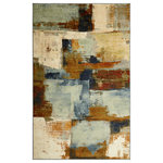 Mohawk Home - Diffusion Multi Rug, 8'x10' - Like abstract art for the floor, the Diffusion rug from Mohawk Home is a modern masterpiece perfect for any contemporary or transitional setting. Washes of aqua, cream, blue and brown colors blend and blur across the canvas of this stunning printed style rug. Available in a myriad of sizes, the quality nylon construction offers dependable durability and makes the Diffusion rug an ideal choice for even high traffic areas.