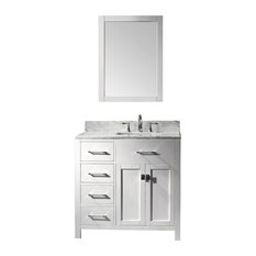 "36"" Transitional Single Sink Bathroom Vanity"