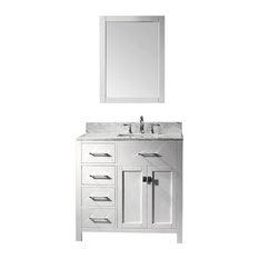 virtu usa 36 inch single sink bathroom vanity bathroom vanities and sink consoles