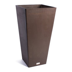 Midland Tall Square Planter, Dark Brown, 28""