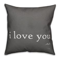 Jaxn Blvd I Love You Me Spun Poly Pillow, 16x16