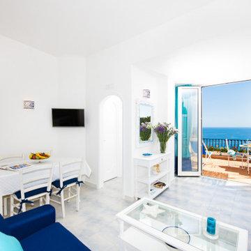 Dama Apartments Positano, Sala da Pranzo