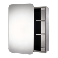 Stainless Steel Sanremo Sliding Door Bathroom Mirror Cabinet