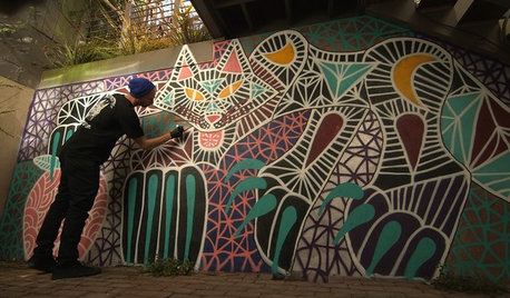 Houzz TV: A Muralist Brings Street Style Home