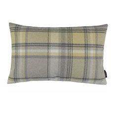 McAlister Textiles Heritage Tartan Pillow Cover, Mimosa Yellow, 30x50 cm