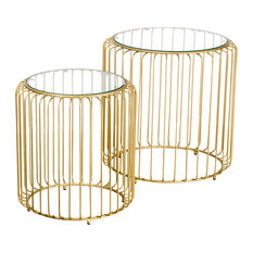 Sylvie Birdcage Side Tables, Set of 2