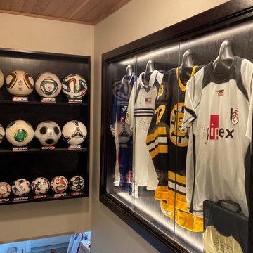 Display case for sports memorabilia