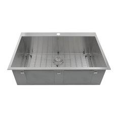 Nantucket Sinks   Nantucket Sinks Topmount Pro Series 16 Gauge Stainless  Kitchen Sink   Kitchen Sinks