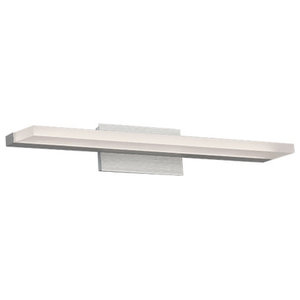 "WAC Lighting Level 18""LED Bath Vanity & Wall Light in Brushed Aluminum"