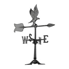 "24"" Eagle Accent Weathervane, Black"