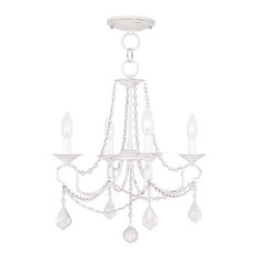 Pennington Convertible Chain-Hang and Ceiling Mount, Antique White