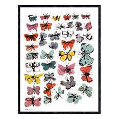 """Butterflies, 1955"" Print by Andy Warhol, 11""x14"""