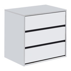ARC Internal Chest of 3-Drawers, White