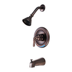 Hardware House Tub and Shower Mixer, Classic Bronze