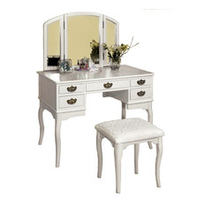 White Makeup Vanity Chair | Houzz