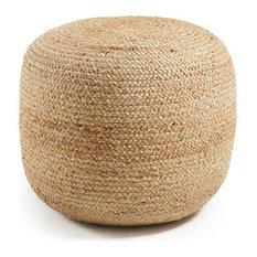kavehome puf doc redondo natural cojines de suelo y puffs