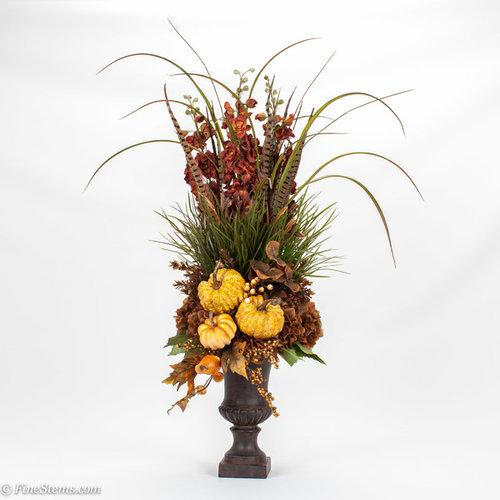 Silk Orange Fall Flowers: Fall Silk Floral Arrangements