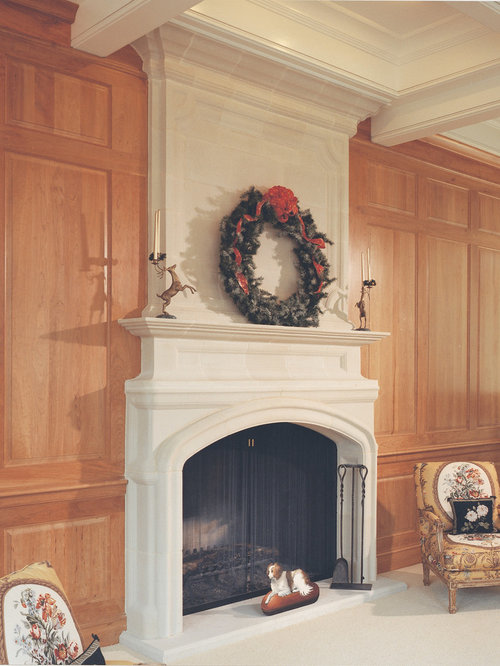 Full Height Upper Mantel Fireplaces