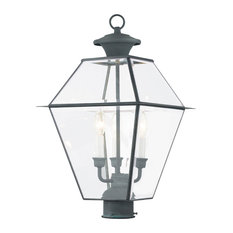 Livex Lighting Westover Charcoal Light Outdoor Post Lantern
