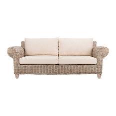 Safavieh Tahiti Wicker 2.5 Seater Sofa