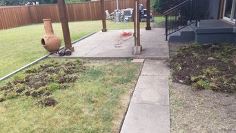 Stamped Concrete/ back patio