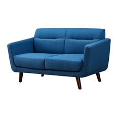 Shopping For US Pride Furniture Corp.   Contemporary Loveseat Ocean Blue    Loveseats   Where To Buy Love Seats