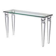 Savannah Console Table, Clear, Clear Glass