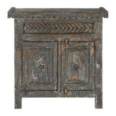 Appalachian Rustic Arrows Mango Wood Free Standing Cabinet