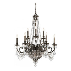 Crystorama Vanderbilt 12-Lights Bronze Chandelier
