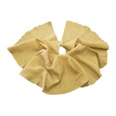 "LA Linen Natural Burlap Christmas Tree Skirt, 60"" Round"