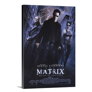 "26/""x38/"" THE MATRIX-OFFICIAL MOVIE ACTION POSTER CANVAS"