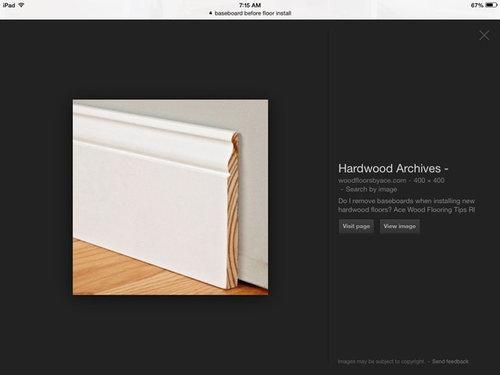Hardwood Flooring Before Or After Baseb