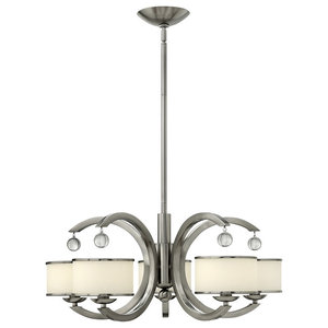 Monaco Contemporary Chandelier, 5 Lights