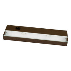 Hide-a-Lite III 2-Light Undercabinet Antique Bronze Frosted Glass