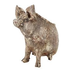 Wilber the Pig Handmade Planter, White