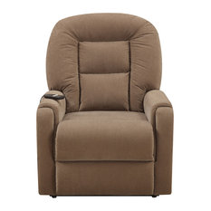 HomeFare - Cover Raider Mocha Metal Recliners With Brown - Recliner Chairs