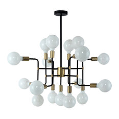Yosemite Home Decor Every Which Way Chandelier, Black/Bronze, BSCB90127