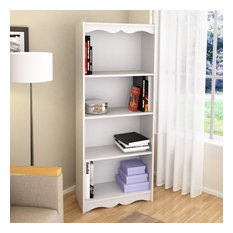"""Sonax Hawthorn 60"""" Tall Bookcase in Frost White"""