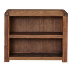 Shiro Low Solid Walnut Bookcase