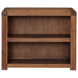 Shiro Low Solid Walnut Bookcase