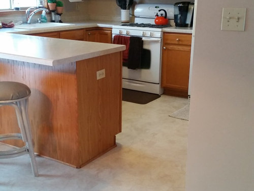 Need Design Advice For Flooring With Honey Oak Cabinets