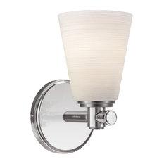 Garland 1-Light Bathroom Vanity Lighting, Satin Nickel